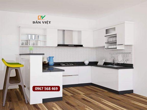 Mẫu thiết kế nội thất tủ bếp Acrylic 4