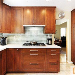 Mẫu thiết kế tủ bếp gỗ dổi TD10