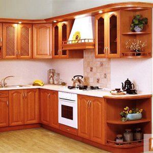 Mẫu thiết kế tủ bếp gỗ dổi TD8