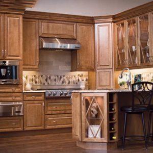 Mẫu thiết kế tủ bếp gỗ giáng hương TGH6