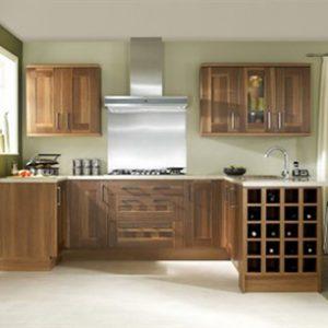 Mẫu thiết kế tủ bếp gỗ sồi Mỹ TM1