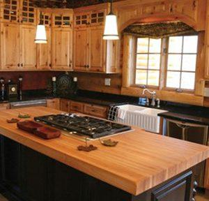 Mẫu thiết kế tủ bếp gỗ sồi Mỹ TM6