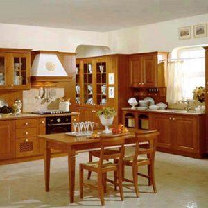Mẫu thiết kế tủ bếp gỗ sồi Nga SN5