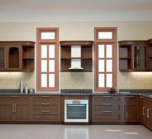 Mẫu thiết kế tủ bếp gỗ xoan đào XD3