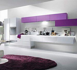 Mẫu tủ bếp Laminate hiện đại TL13
